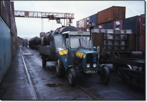 AG 160 road tractor sligo yard quays guinness kegs containers bell line patrick wynne jack hanney